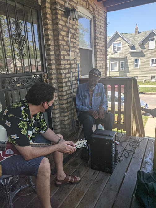Tail Dragger Chicago Blues Singer on the Back Porch