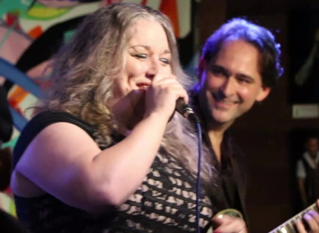 "Rae Gordon at the ""Johnny Burgin Live"" recording session concert."