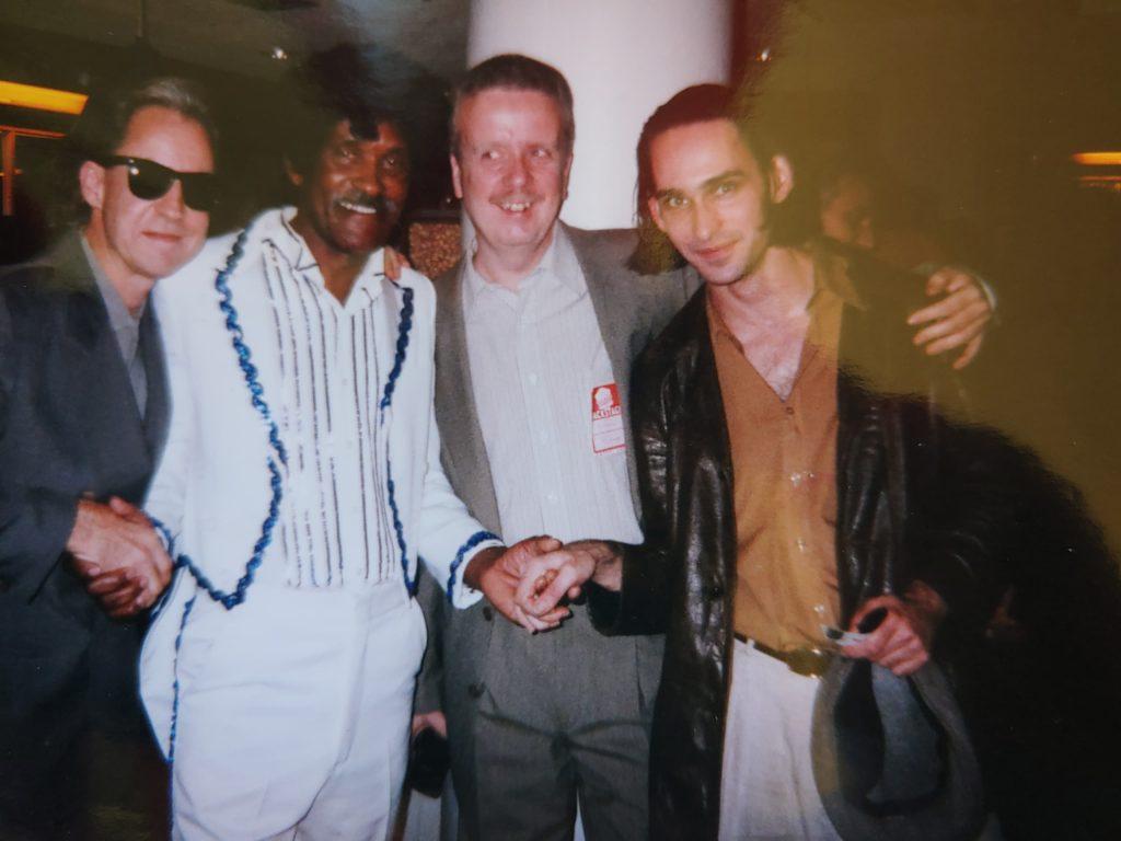 Blues Estafette Utrecht 1997.  Rick Kreher (Muddy Waters guitarist), Robert Bilbo Walker, Madison Slim.